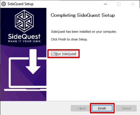 SideQuestインストール画面3